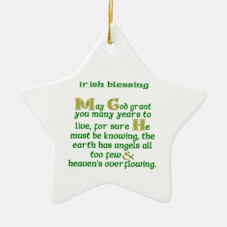 May God Grant You Many Years Ceramic Star Decoration