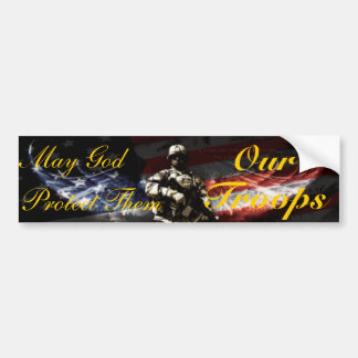 May God Protect Them Bumper Sticker