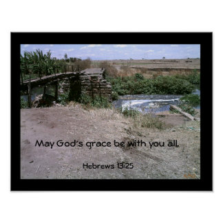 May God s grace be with you all Heb Poster