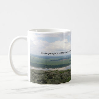 May he grant you the desires of your heart. coffee mug