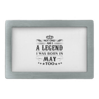 May month Legends tshirts Belt Buckle