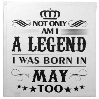 May month Legends tshirts Napkin