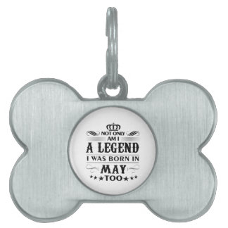 May month Legends tshirts Pet ID Tag