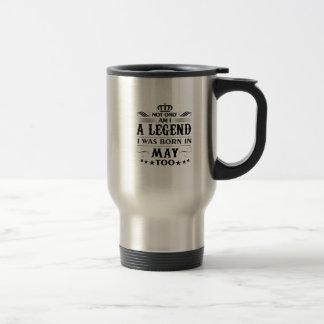May month Legends tshirts Travel Mug