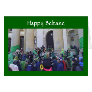 May Morning in Oxford - Happy Beltane Card