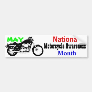 May - National Motorcycle Awareness Month Bumper Sticker