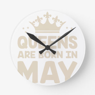 May Queen Round Clock
