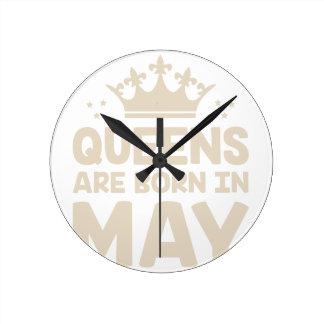May Queen Round Clock