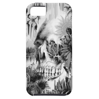 May showers melting floral skull in grey tough iPhone 5 case