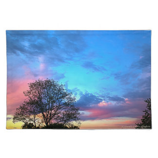 May Sunset Looking South place mat