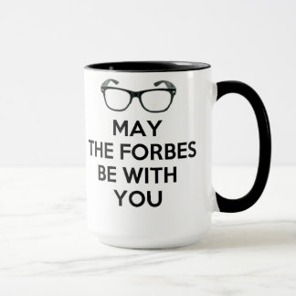 May The Forbes Be With You Black & White Mug