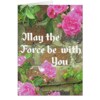 may the force be with you greeting card
