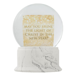 May the Light Shine on You Snow Globe