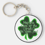 May the Luck of the Irish... Basic Round Button Key Ring