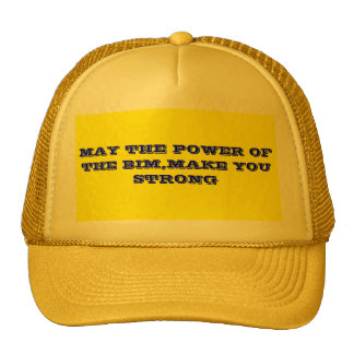 MAY THE POWER OF THE BIM,MAKE YOU STRONG CAP