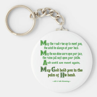 May the Road Rise To Meet You Key Ring