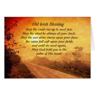 May the Road Rise up to Meet You, Irish Blessing Card