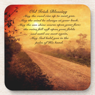 May the Road Rise up to Meet You, Irish Blessing Coaster