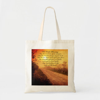 May the Road Rise up to Meet You, Irish Blessing Tote Bag