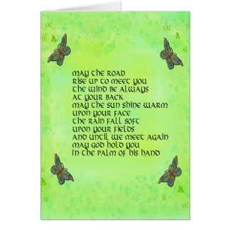 May the road rise up to meet you - Irish poem Card