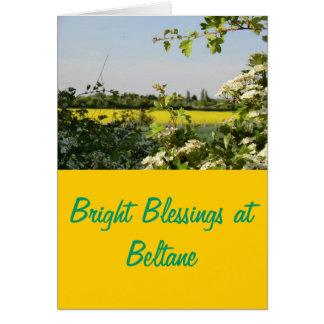 May Tree and Field at Beltane Card