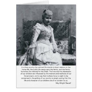 May Wright Sewall-Mothers & Politics Card