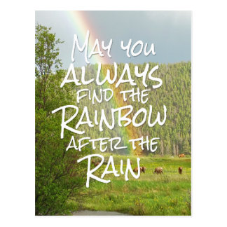 May You Always Find the Rainbow After the Rain Postcard