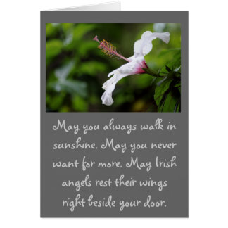 May you always walk in sunshine... card