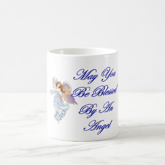 May You Be Blessed By An Angel Basic White Mug