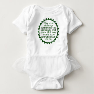 May your blessings outnumber the shamrocks, Irish Baby Bodysuit