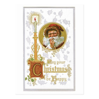 May Your Christmas Be Happy Victorian Vintage Postcard