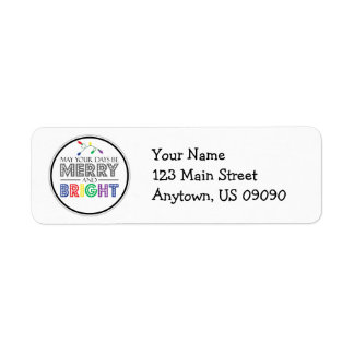 May Your Days Be Merry And Bright Christmas Lights Return Address Label