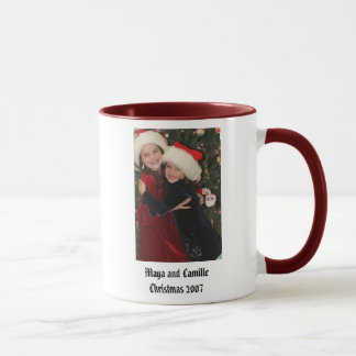 Maya and CamilleChristmas 2007 Mug