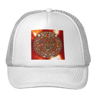 maya aztec calendar mesh hat