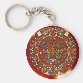 maya aztec calendar key chain