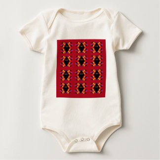 Maya / Aztec handdrawn  Folk Summer vintage patter Baby Bodysuit