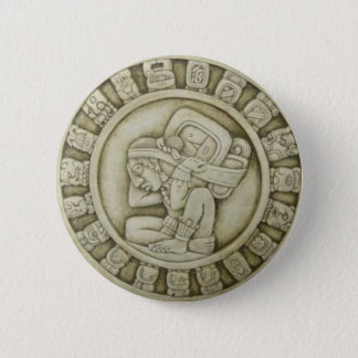 Maya calendar 6 cm round badge