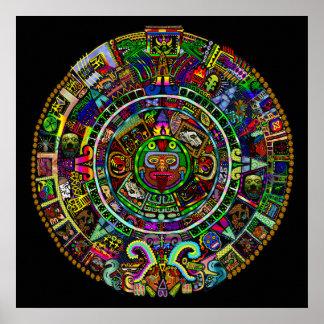 Maya Calendar by Myztico Poster