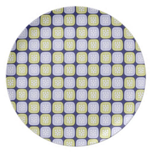 Maya sun glyph pattern on blue background party plates