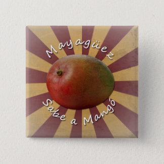 Mayagüez - Sabe a Mango 15 Cm Square Badge