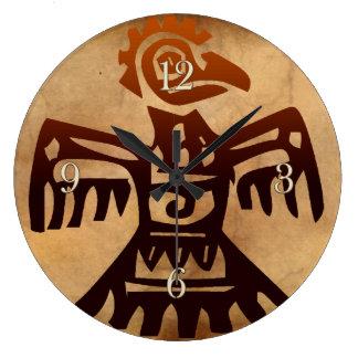 Mayan Amaranth Bird Aztec Mexico Art History Clock
