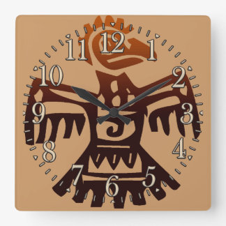 Mayan Amaranth Bird Aztec Mexico Art History Clock