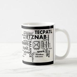 Mayan Aztec Birthday Word Cloud Etznab Tecpatl Mug