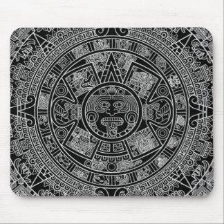 Mayan Aztec Calendar (black) 12.21.2012 Mouse Pad
