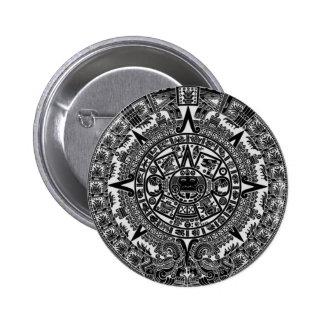 Mayan Aztec Calendar black Dec 21 2012 Button