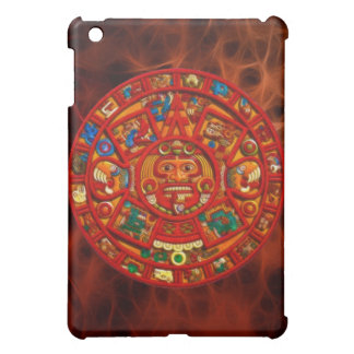 Mayan-Aztec Sun Calendar Ancient Mexico iPad Case