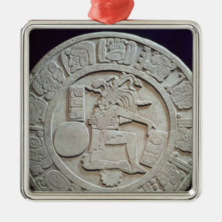 Mayan ball court marker, from Chinkultic Silver-Colored Square Decoration
