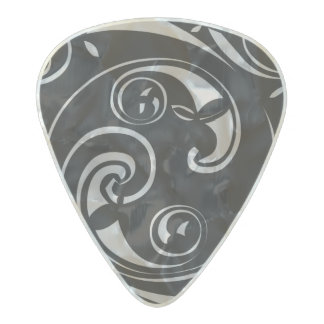Mayan Block Pearl Celluloid Guitar Pick