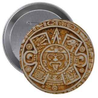Mayan Calendar 10 Cm Round Badge