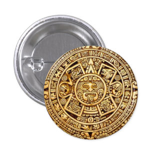 Mayan calendar 3 cm round badge